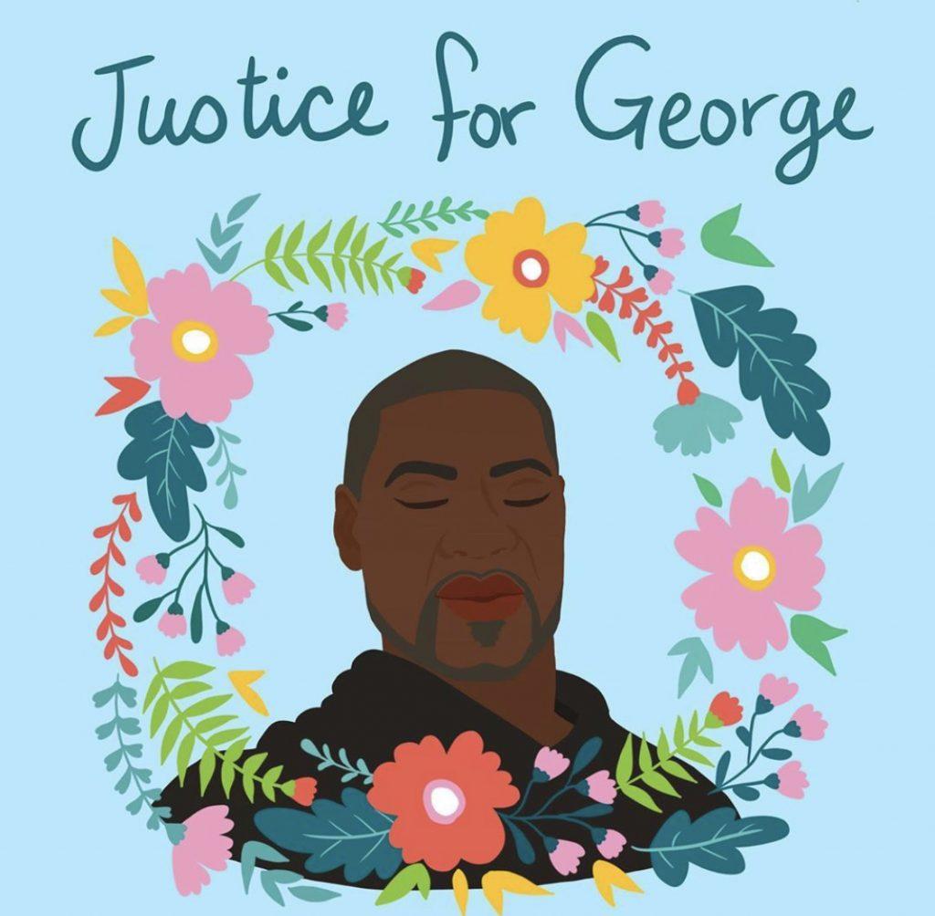 Source: Palestinian-American artist Shirien Damra's illustration paying tribute to George Floyd. @Shirien.Creates / Instagram