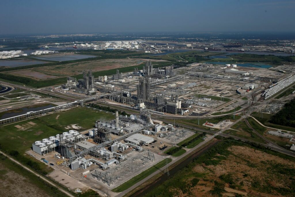 Photo: An aerial view of Chevron Phillips Chemical Co is seen in Pasadena, Texas, U.S. August 31, 2017. REUTERS/Adrees Latif/File Photo